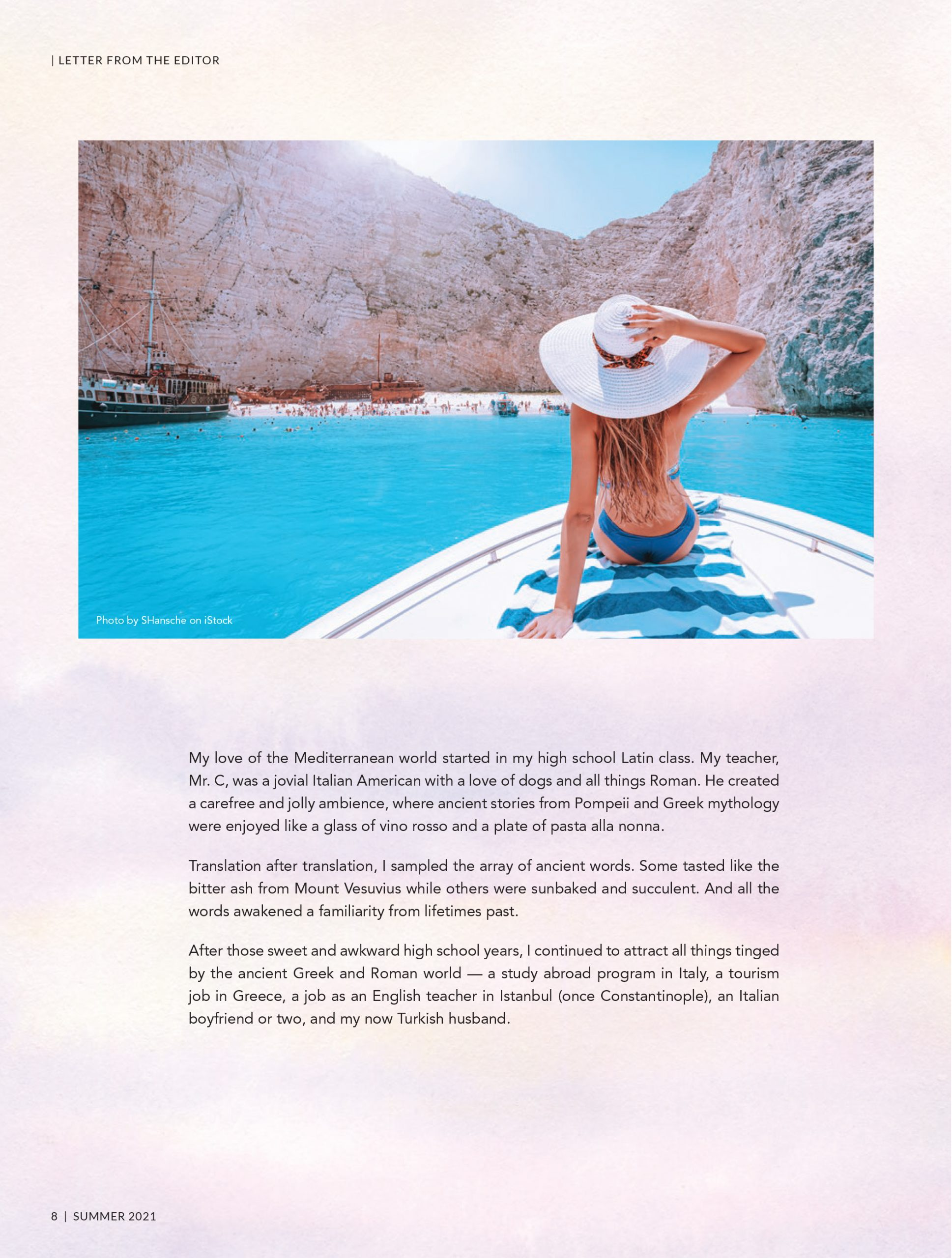 Mystic Travel Summer Issue Letter from the Editor 2